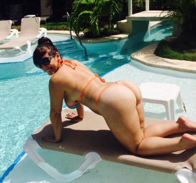 Hot Indian Wife Enjoying Vacation Wearing Sexy Thong