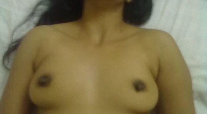 Sexy Indian Wife Nude Laying in Bed Posing Pussy and Boobs