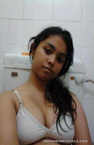desi amateur girl topless showing beautiful boobs 005