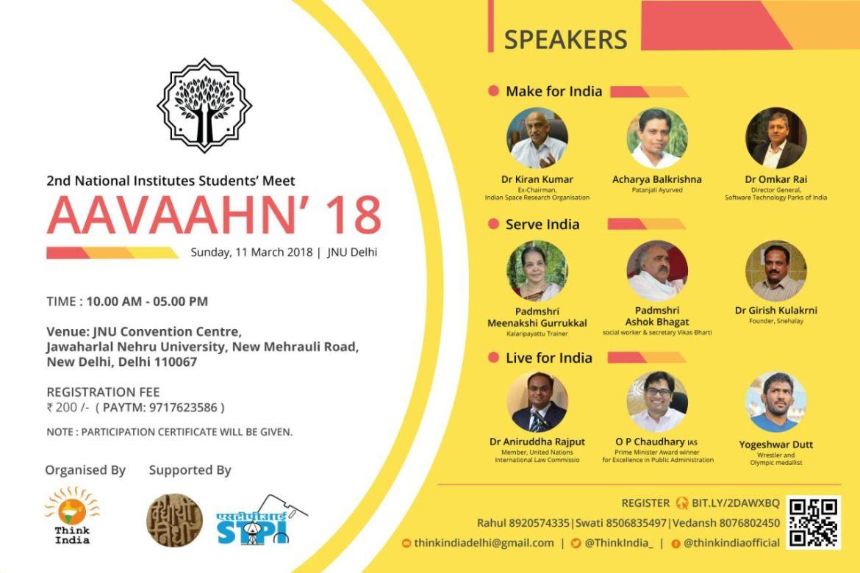 Think India Delhi, Aavaahn'18