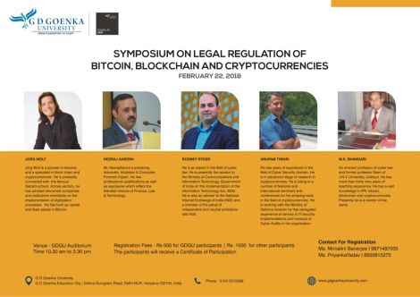 SYMPOSIUM ON LEGAL REGULATION OF  BITCOIN, BLOCKCHAIN AND CRYPTOCURRENCIES