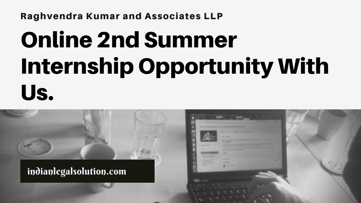Call for Applications: 2nd batch of summer Internship with us.