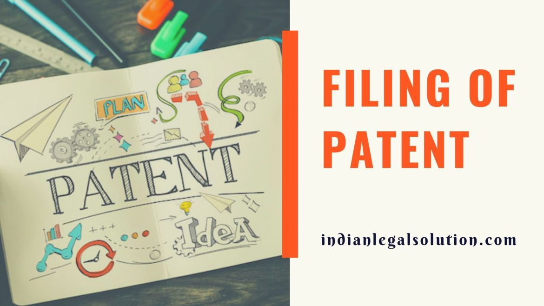 Filing of Patent
