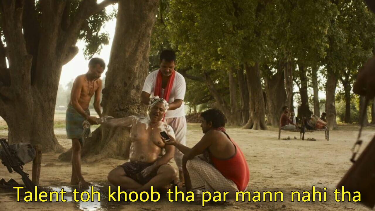 Talent toh khoob tha par mann nahi tha mirzapur 2 meme templates