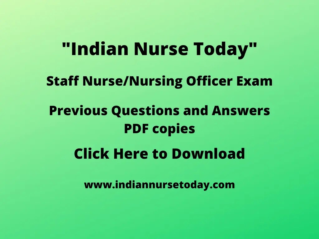 Previous Staff Nurse Exam Questions and Answers