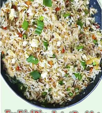 Egg fried rice from leftover rice