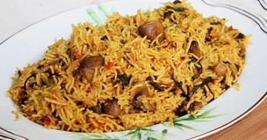 mushroom biryani recipe in hindi