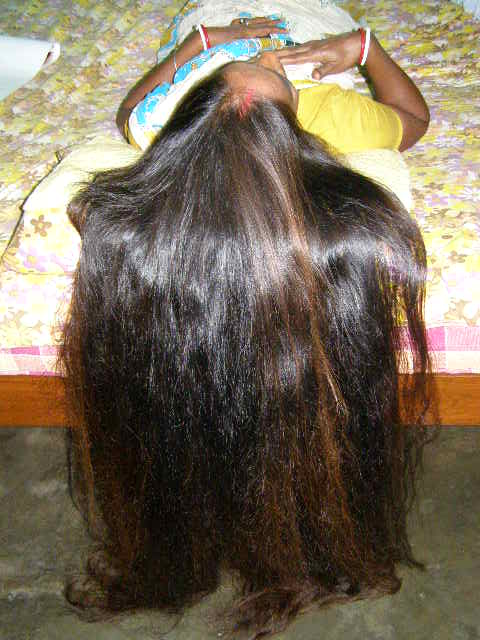 HA LONG HAIR SMELLING VIDEO Indianrapunzels