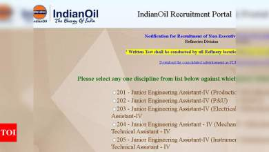 Photo of junior engineering assistant-iv: IOCL Recruitment 2021: Apply online for 513 Junior Engineering Assistant-IV and other posts