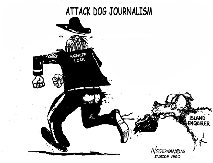 Cartoon: Attack dog journalism