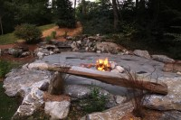 Indian Run Landscaping Natural Flagstone Patio with Fire ...