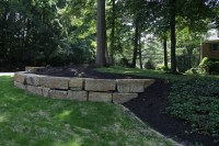 Indian Run Landscaping  Natural Boulder Retaining Wall