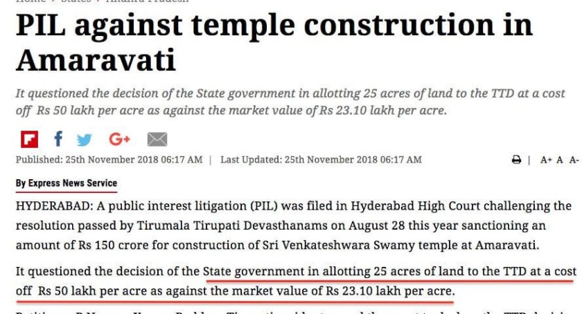 Andhra Pradesh Temple Loot – indians First