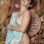 Sunny Leone takes off her saree bra and panties and showing sexy boobs and ass Bollywood actress Sunny Leone nude 16