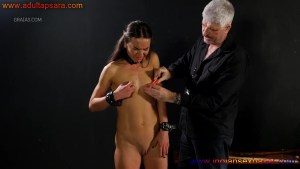 Shy Nude Model Enjoying Painful Breast Torture Full HD Porn Image Gallery (9)