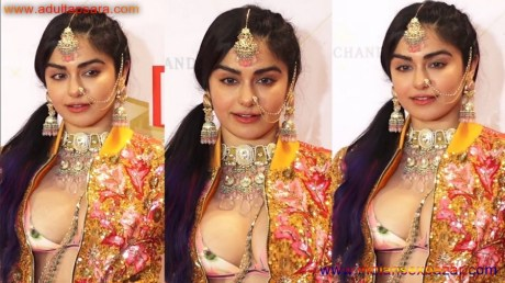 XXX Porn Boobs Pic Adah Sharma Showing Her Big Boobs In Live Press Conference (1)