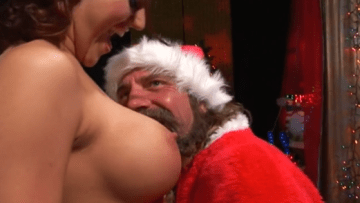 Santa Claus Finds Milky Boobs To Suck On Christmas Day Full HD Porn