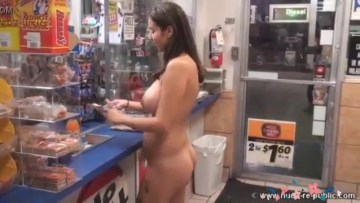 Nude Girl In The Shopping Mall Purchasing Products XXX Video And Porn Pictures