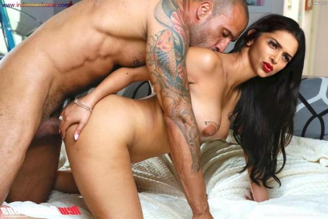Bollywood Film Actress Deepika Padukone Enjoying Doggy Style Sex XXX Photos