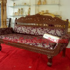 Sofa Set Below 3000 In Hyderabad 3 Seat Leather Recliner Covers Seater Traditional Living Room By Pearl Handicrafts Carved Teak