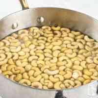 Simmer the nuts