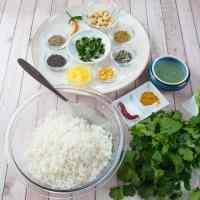 Indian Lemon Rice Ingredients