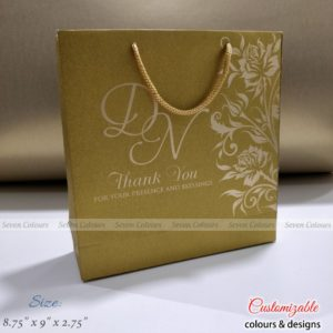 Bag Square Gold - 8-75x9x2-75