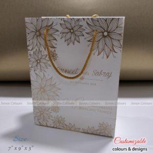 Bag White Floral - 7x9x3 (2)