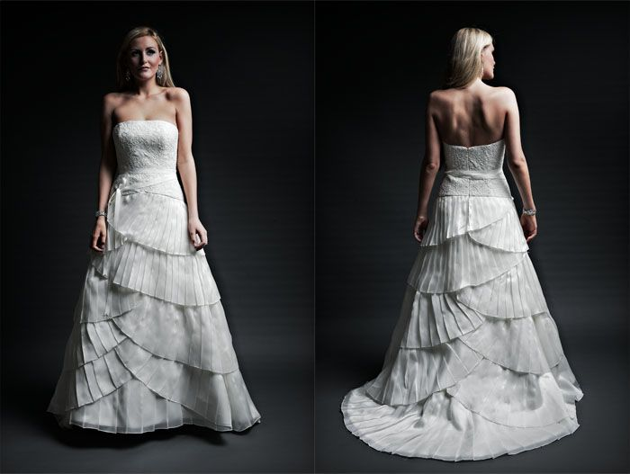 Organza A-line Dress with Ribbon Detail