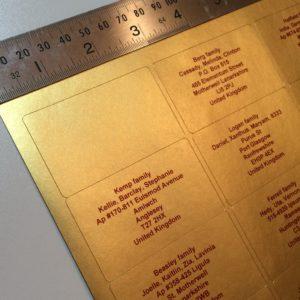 gold-address-labels