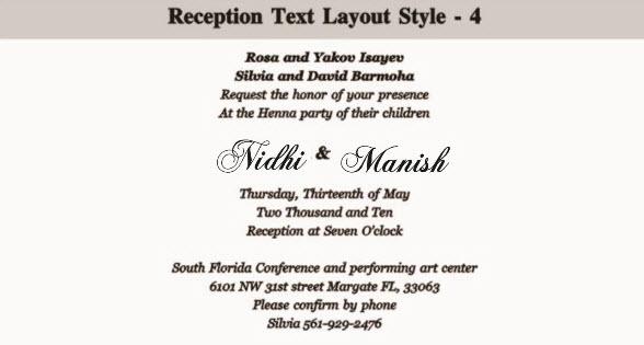 Wedding Invitation Wordings For Family Sample Refference Letters