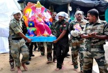 Photo of Ganesh festival will be celebrated with a blast in India-Pak border! The idol is set to depart from Mumbai.