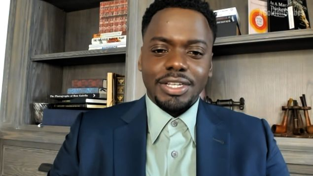 Daniel Kaluuya, after brief technical difficulties, accepted his Golden Globe for Judas and the Black Messiah on a livestream
