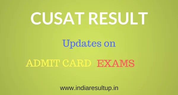 CUSAT Results