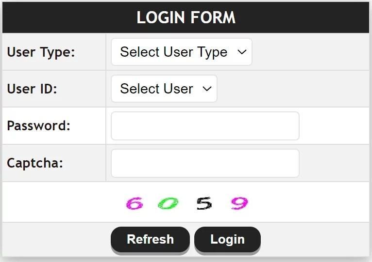 AePDS Login Form