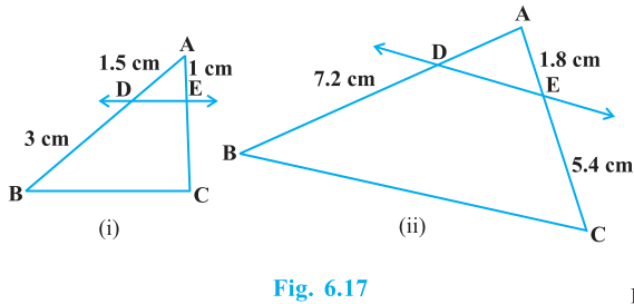 Triangles Exercise 6.2 Question No. 1