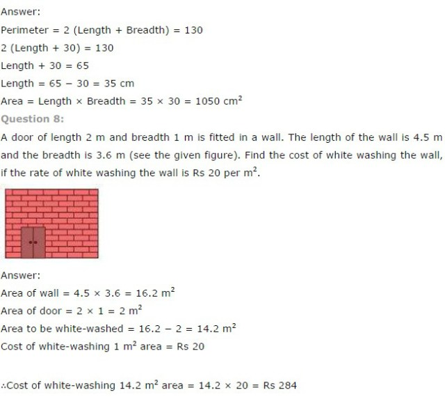 NCERT Solutions for Class 7th Maths Chapter 11 – Perimeter and Area Q8