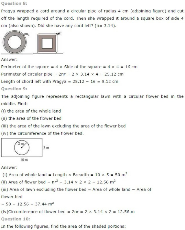 NCERT Solutions for Class 7th Maths Chapter 11 – Perimeter and Area