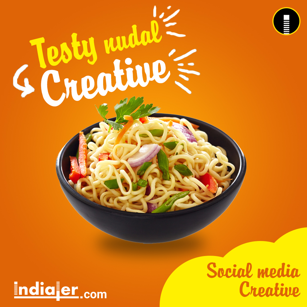 Free Social Media Food Creative Banner PSD  Indiater