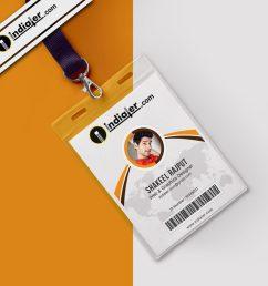 modern office identity card psd template [ 990 x 990 Pixel ]