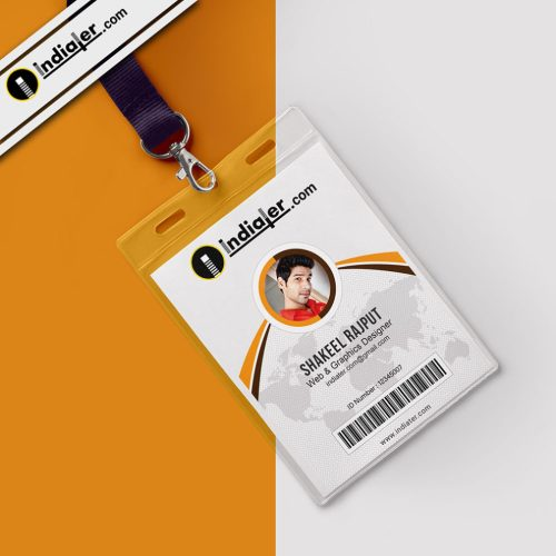small resolution of modern office identity card psd template