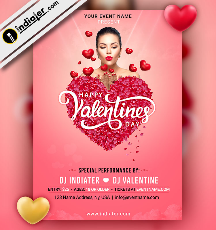 Valentines Day Flyer Design Free PSD Template Download