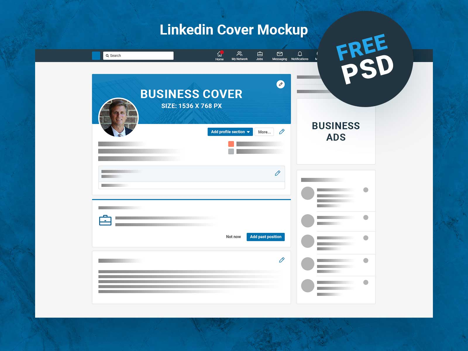 Device freebie linkedin layout minimalism mockup photoshop spektrum44. Linkedin Cover Mockup Free Psd Download Indiater