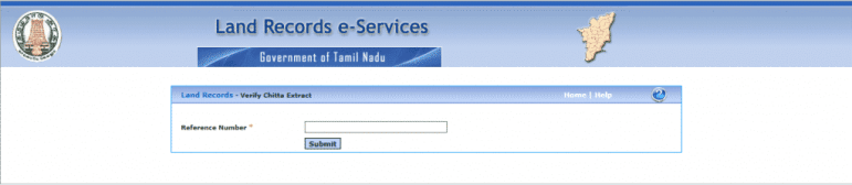 Verify of your Patta Chitta certificate Reference number
