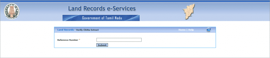 Validity of your Patta Chitta certificate Reference number