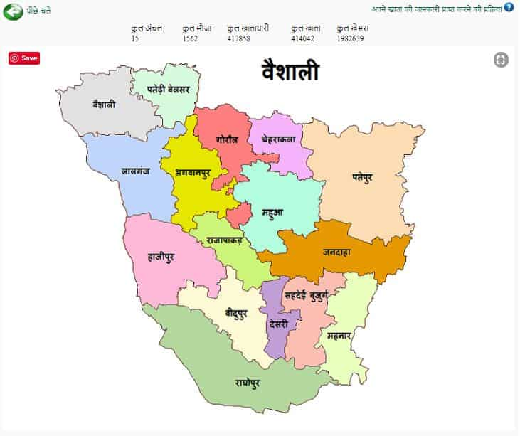 Bihar map with districts