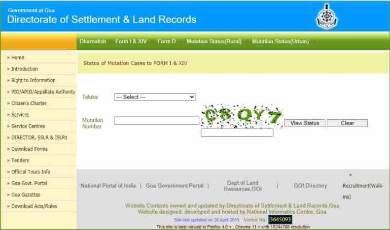 Mutation Status land records