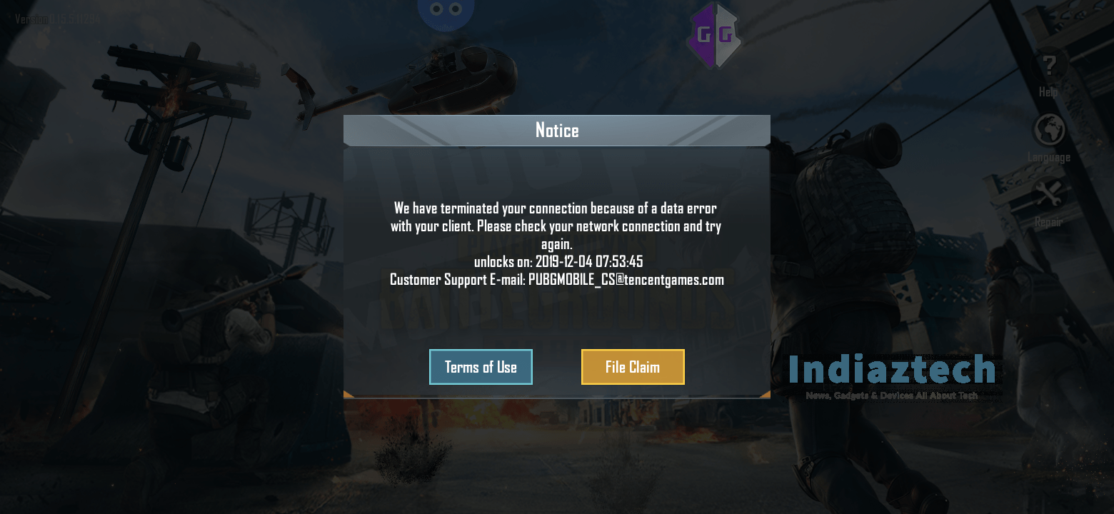 Fix 10 Minutes Ban PUBG Mobile Even who not killed a Enemy