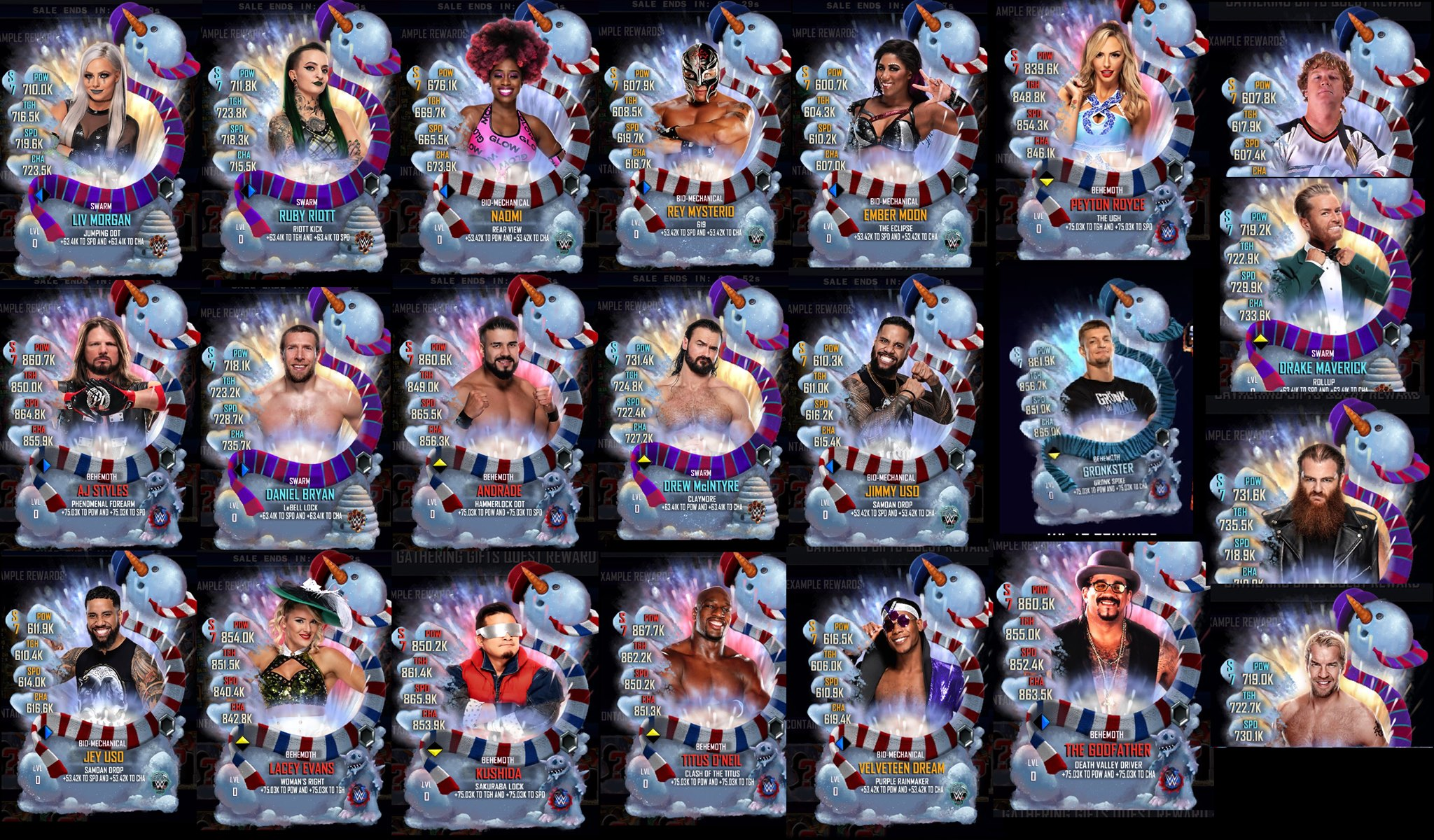 WWE Supercard French, wwe supercard qr codes