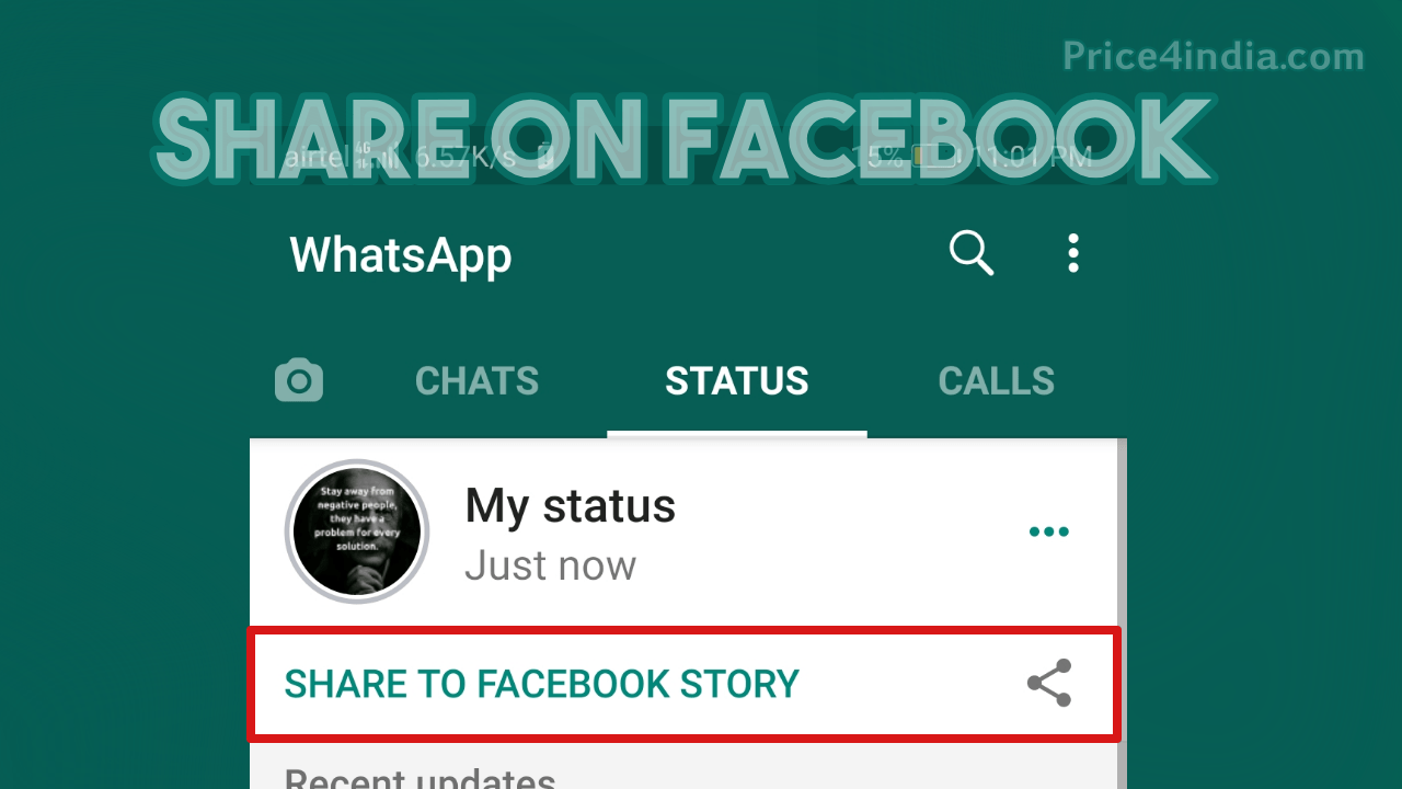 WhatsApp New Features: How to Share WhatsApp Story to Facebook